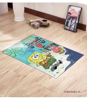 پادری و فرش فرش اتاق کودک طرح باب اسفنجی مدل 93