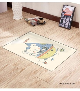 پادری و فرش فرش اتاق کودک طرح خرس ملوان مدل 105