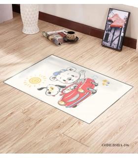 پادری و فرش فرش اتاق کودک طرح خرس راننده مدل 106