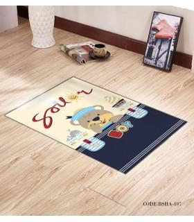 پادری و فرش فرش اتاق کودک طرح BOY مدل 107