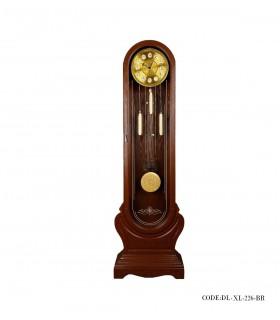 تصویر ساعت مبله چوبی مدل GRAND FATHER رنگ قهوه ای