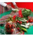 سرویس کامل پارچه ای آشپزخانه طرح راه راه الوان