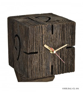 عکس ساعت رومیزی طرح چوب ساحل مدل 104