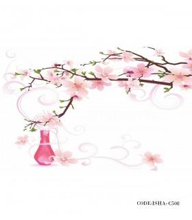 خرید اینترنتی پوستر گل پارچه ای دیواری طرح شکوفه