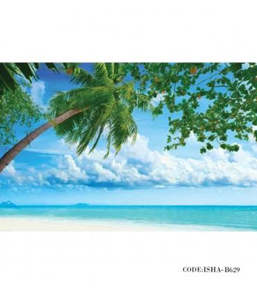 خرید آنلاین پوستر منظره پارچه ای دیواری طرح موج