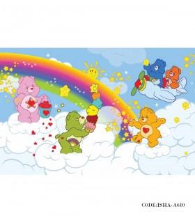 فروش آنلاین پوستر پارچه ای اتاق کودک مدل خرس