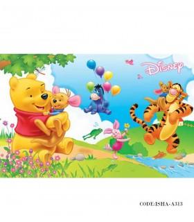 فروش اینترنتی پوستر پارچه ای دیواری کودک مدل وینی پو