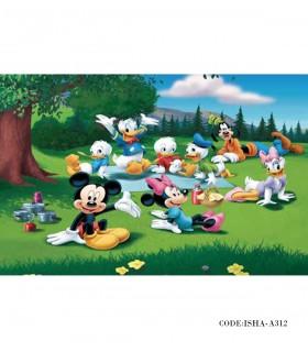 خرید آنلاین پوستر پارچه ای اتاق کودک مدل میکی موس