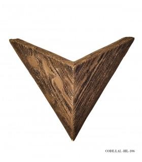 عکس روشنایی دیواری مثلثی مدل 106