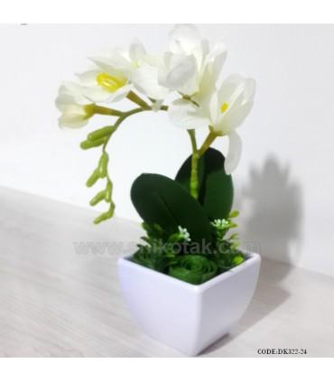 گل ارکیده مصنوعی سفید