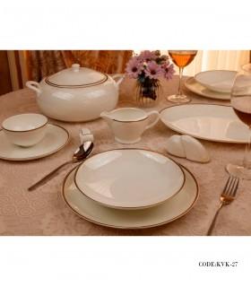 عکس سرویس غذاخوری چینی 142پارچه 18 نفره مدل راش