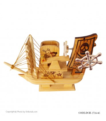 عکس کشتی دکوری چوبی موزیکال سری 6C