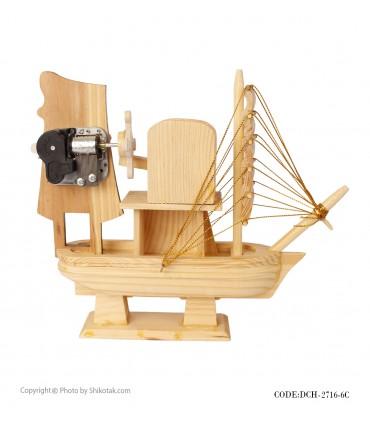 خرید انلاین کشتی دکوری چوبی موزیکال سری 6C