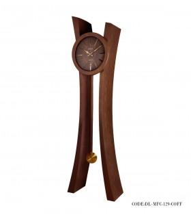 تصویر ساعت ایستاده چوبی مدل MFC رنگ فندقی