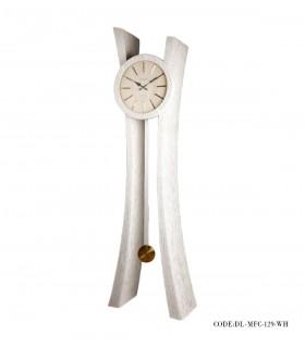 تصویر ساعت ایستاده چوبی مدل MFC رنگ سفید