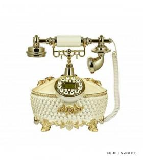 تصویر تلفن رومیزی مرواریدی پهن مدل 038EF