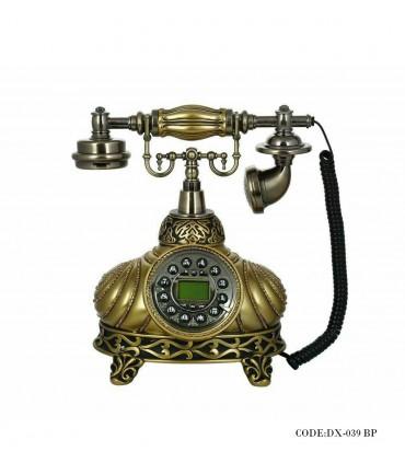 تصویر تلفن کلاسیک برنزی راه راه مدل 039BP