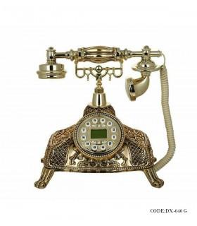 خرید انلاین تلفن رومیزی کلاسیک دکمه ای گلد مدل 040G