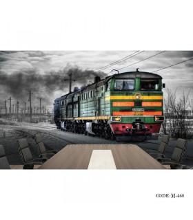 عکس پوستر پارچه ای سه بعدی دیواری طرح قطار