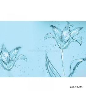 تصویر پوستر کاغذی دیواری 3D طرح آب