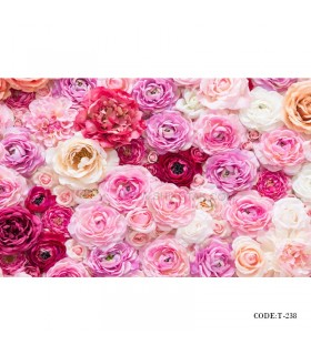 خرید پوستر دیواری سه بعدی کاغذی طرح گل صورتی