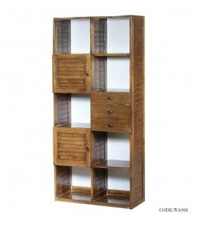 کتابخانه تمام چوب کمد دار طرح روژان
