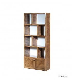 کتابخانه تمام چوب طرح روژان
