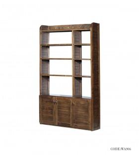 کتابخانه تمام چوب طرح رومینا