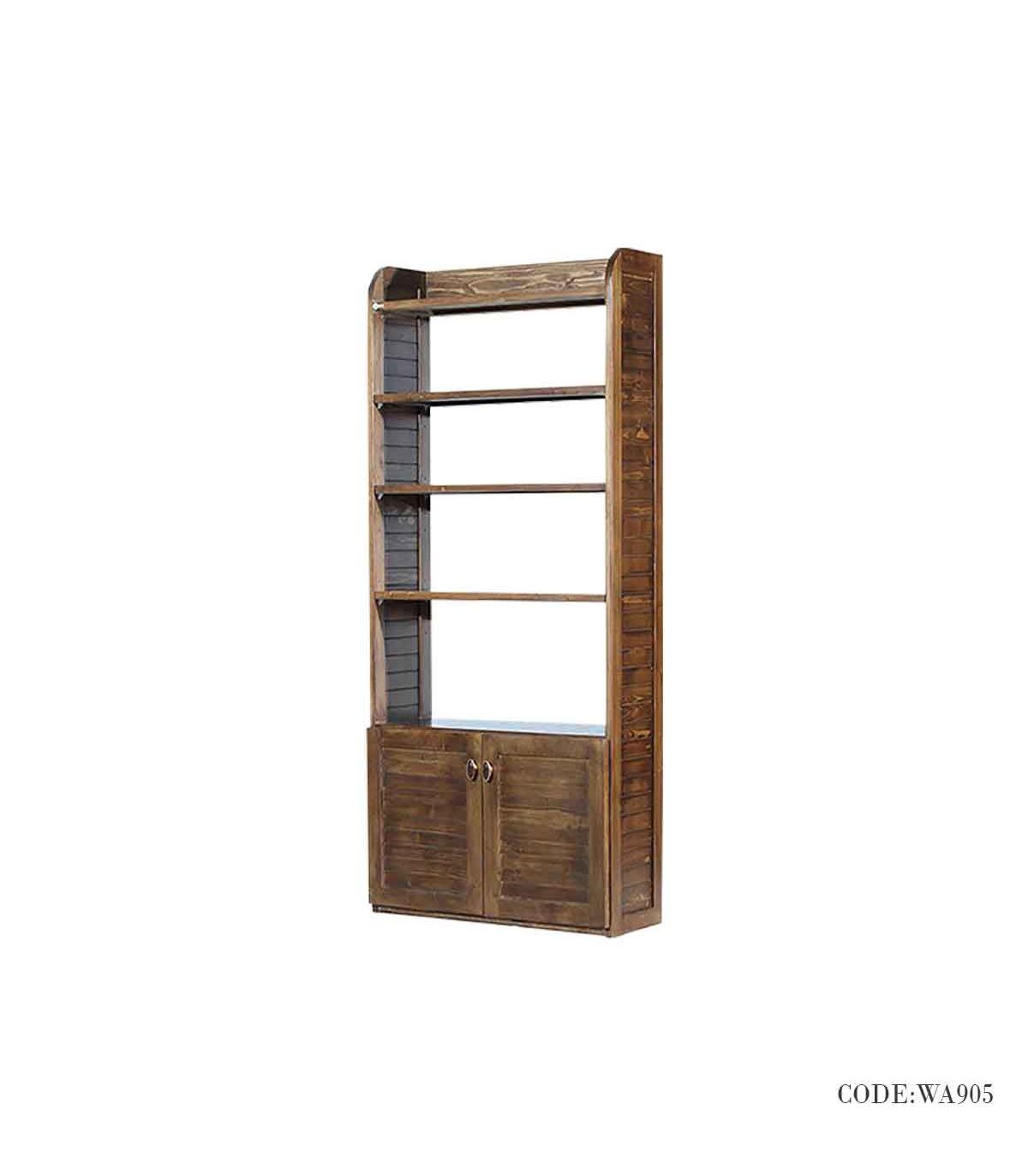 کتابخانه تمام چوب مدل رانا