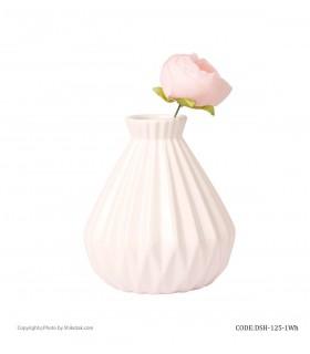 خرید آنلاین گلدان سفید سرامیکی شیک و تک سری 125