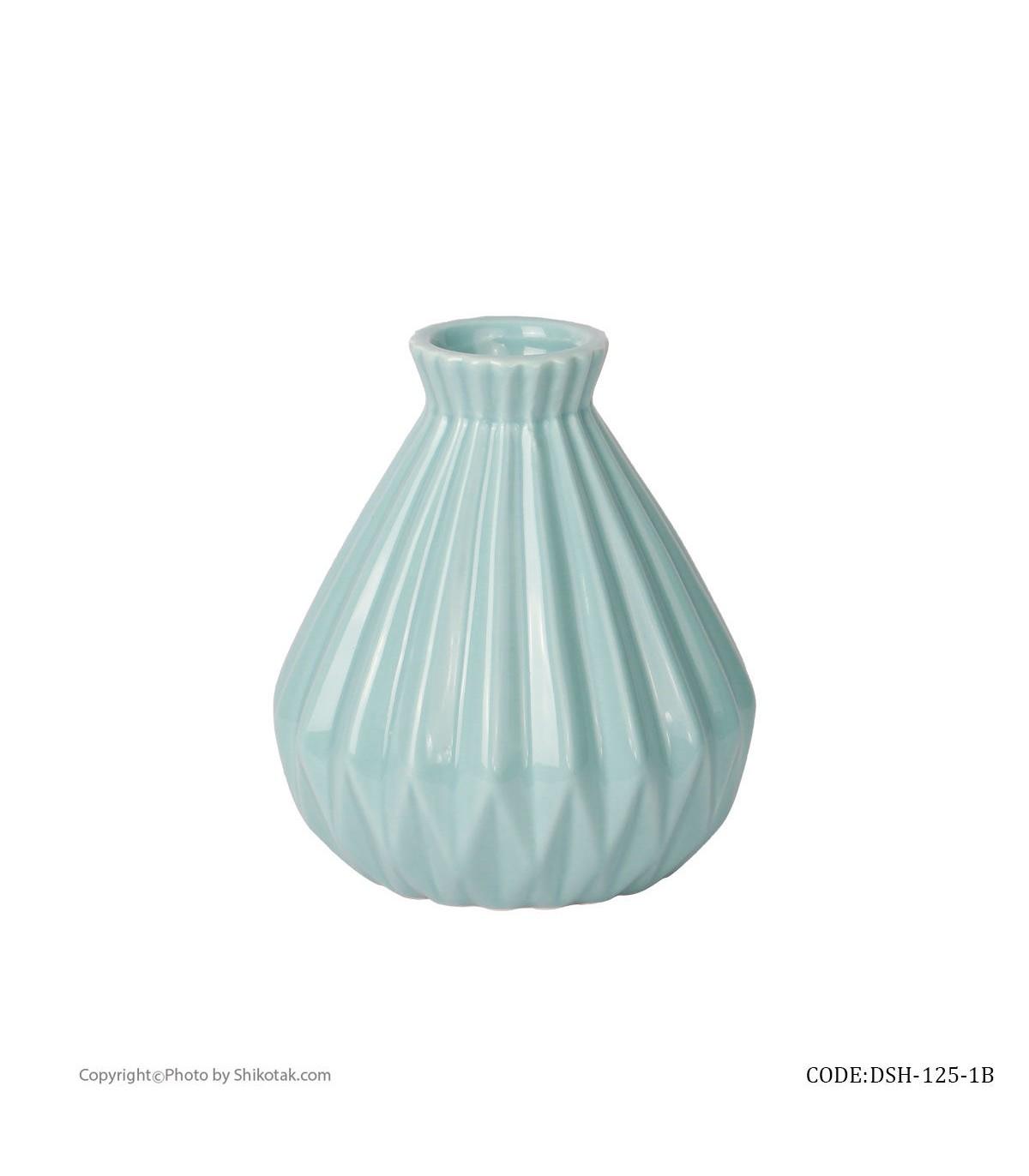 خرید گلدان آبی سرامیکی شیک و تک سری 125