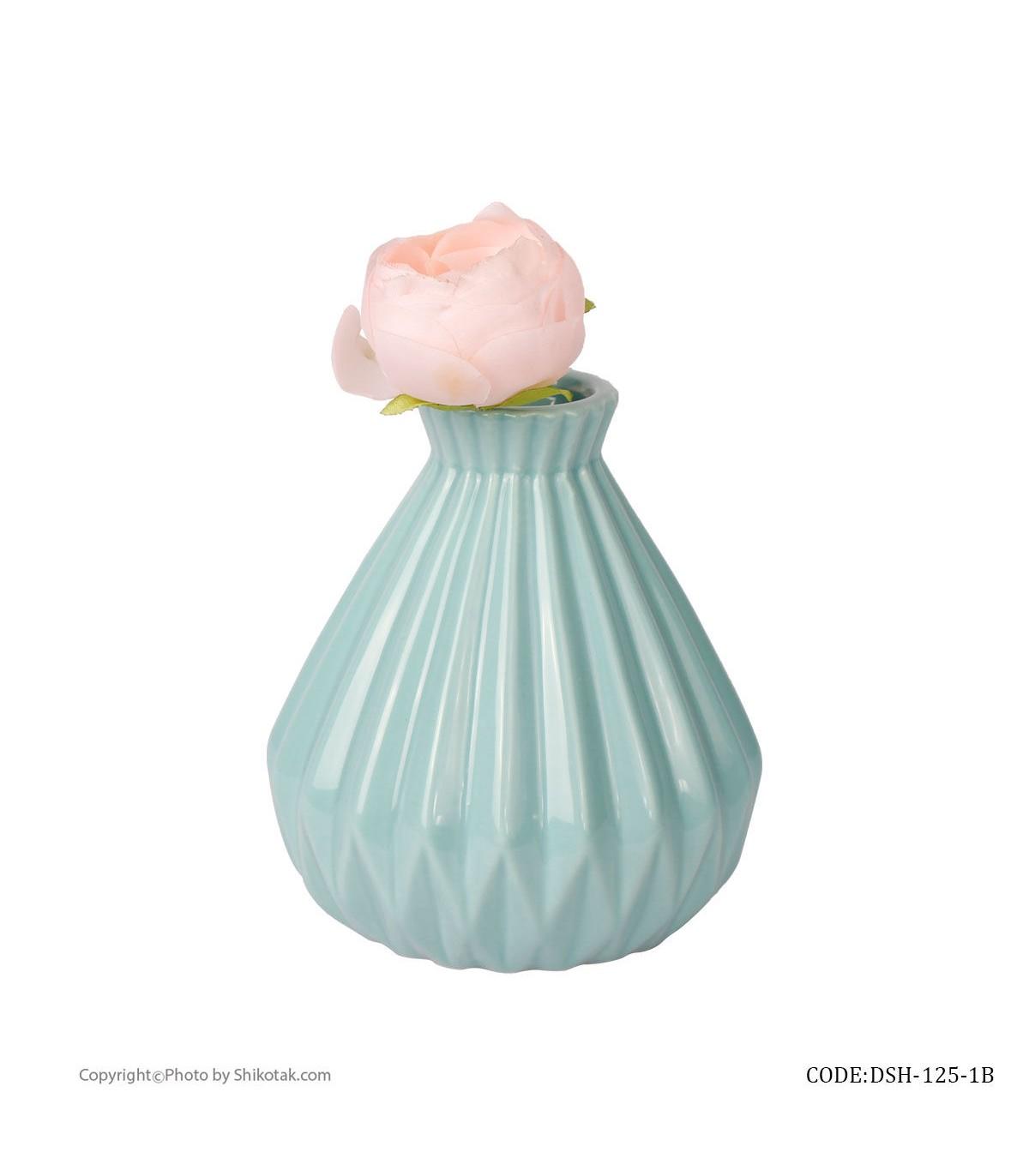قیمت گلدان آبی سرامیکی شیک و تک سری 125