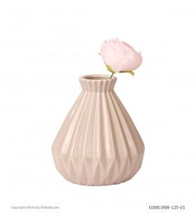 خرید گلدان سرامیکی بژ شیک و تک سری 125