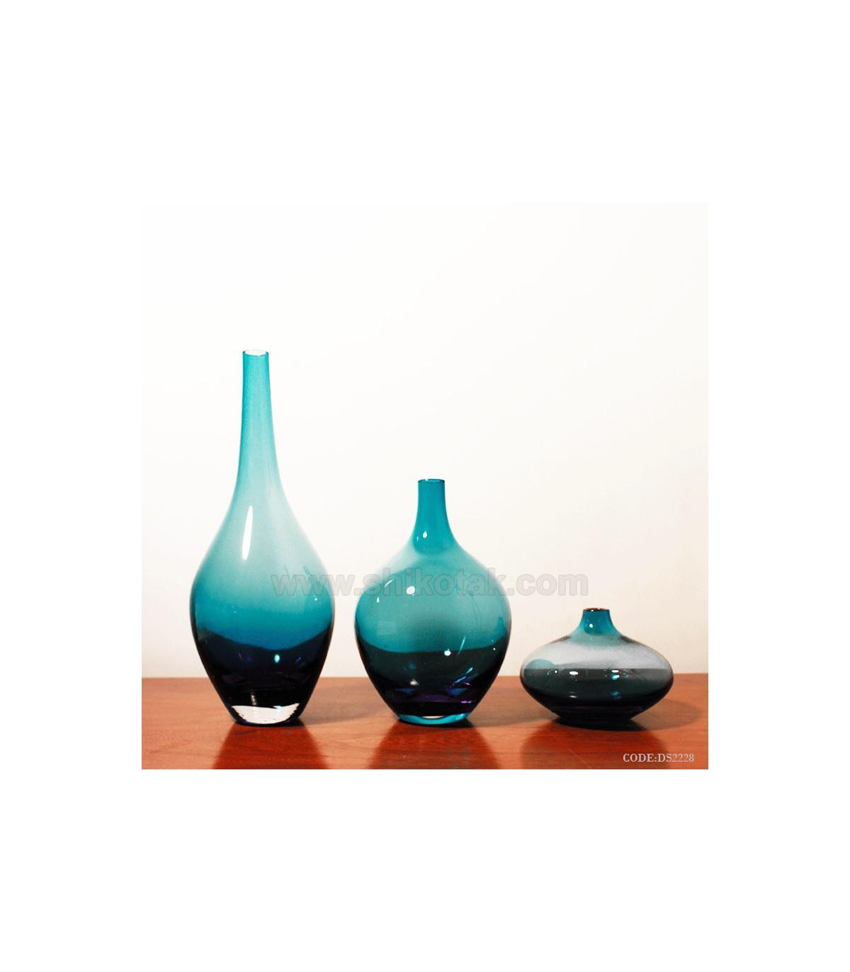 گلدان های سالونگ آبی