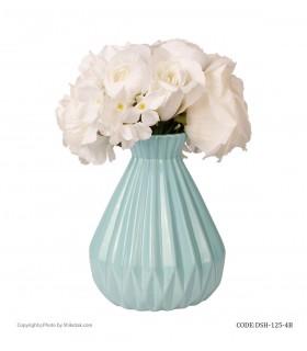 خرید گلدان سرامیکی فانتزی آبی شیک و تک سری 4-125