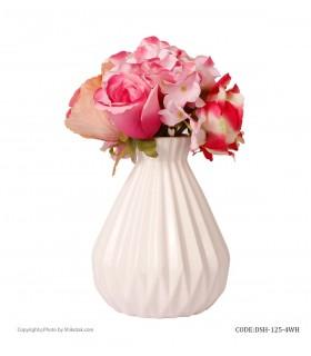 گلدان گل سرامیکی سفید شیک و تک سری 4-125