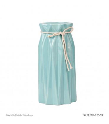 مدل گلدان گل سرامیکی فانتزی بلند آبی