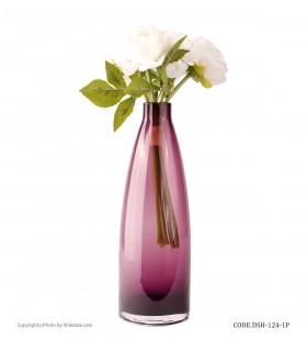 خرید آنلاین گلدان شیشه ای طرح بطری بنفش