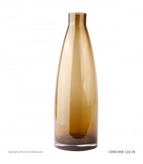 خرید آنلاین گلدان شیشه ای رومیزی طرح بطری بژ