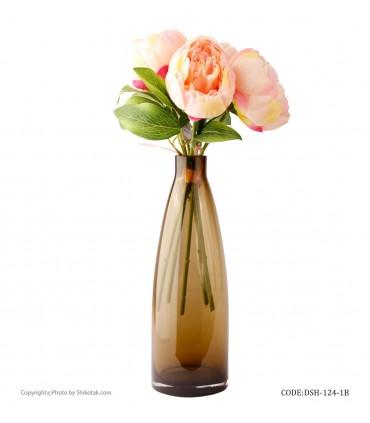 قیمت گلدان شیشه ای رومیزی طرح بطری بژ