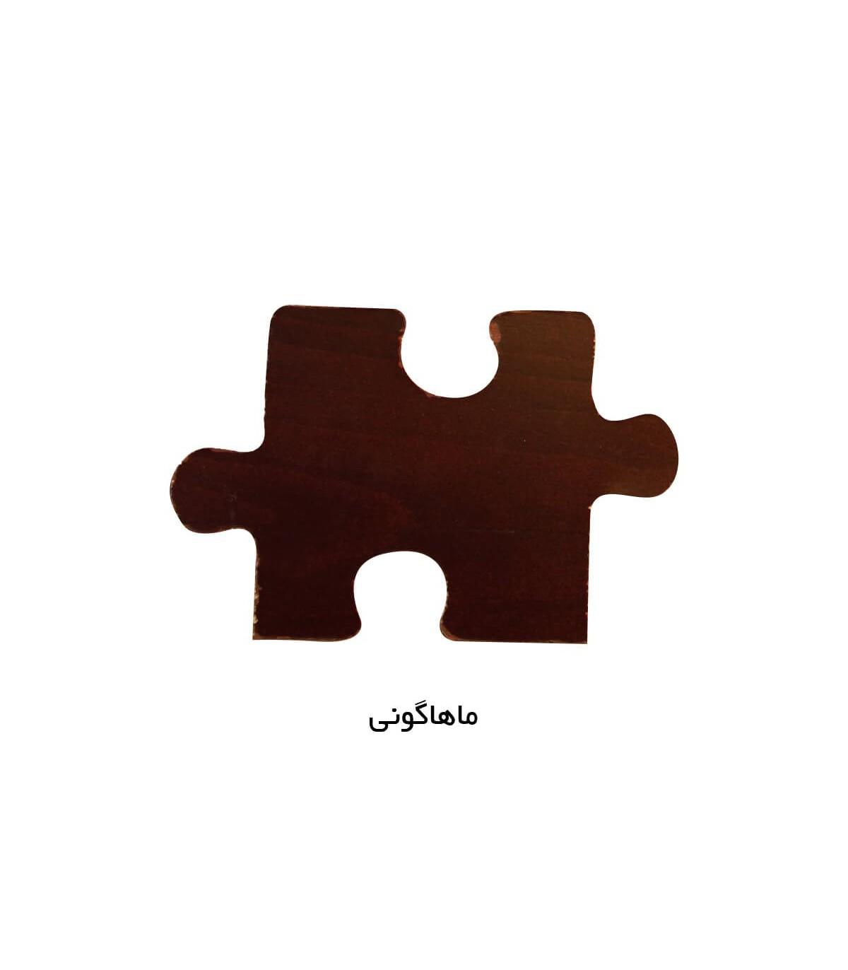مبل دو نفره کلاسیک سری 514 رنگ ماهاگونی
