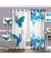 پرده اتاق خواب فانتزی طرح پروانه آبی