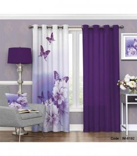 پرده پانچی اتاق خواب طرح پروانه های رویایی