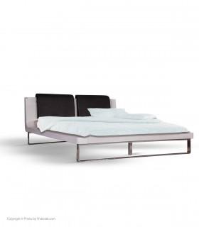 غکس تخت خواب چوبی تولیکا مدل CHILAN