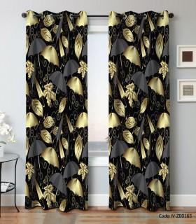 فروش پرده پانچی اتاق پذیرایی دو تکه مدل چتر