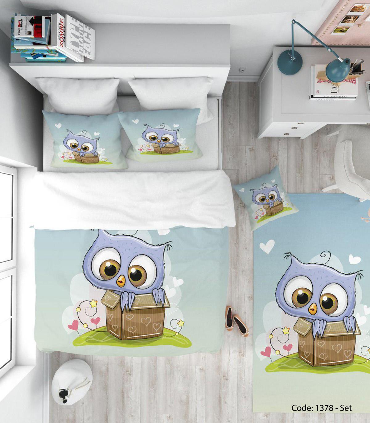 خرید روتختی کودکانه مدل BLUE OWL