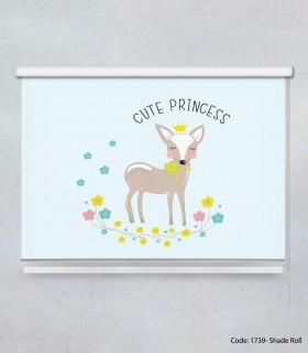 خرید اینترنتی پرده شید بالارو اتاق کودک دخترانه مدل CUTE PRINCESS