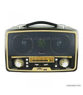 رادیو طرح قدیمی مشکی مدل شوپر