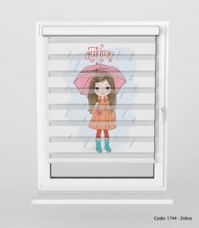 عکس پرده زبرا مناسب سیسمونی مدل RAIN
