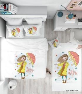 فروش روتختی اتاق کودک دخترانه UMBRELLA